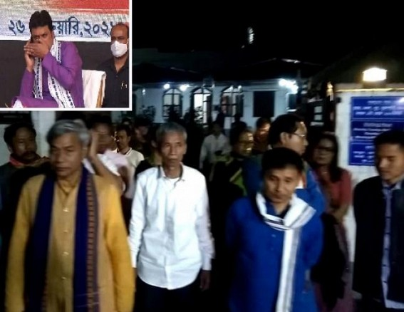 Dissent among Biplab Deb and BJP ST Morcha : Biplab Deb wants alliance / friendly fight with IPFT but BJP ST Morcha hasn't agreed : Massive Infighting inside BJP, No Solution after late-night meeting at Biplab Deb's residence